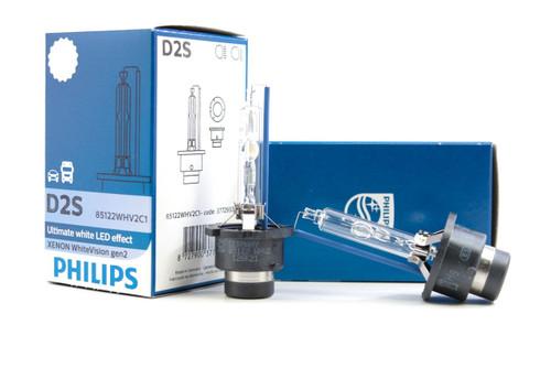 Philips D2S 85122 WHV2 White Vision Bulbs (5000K)