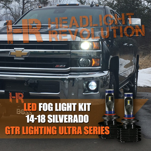 2014 - 2018 Chevrolet Silverado 1500, 2500HD 3500HD LED Fog Light Conversion Kit - Ultra Series