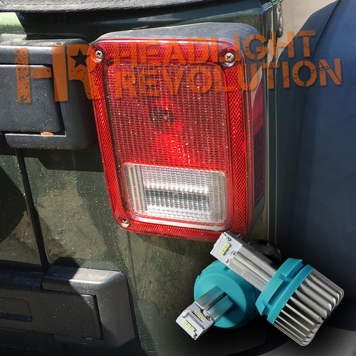 2007 - 2017 JEEP JK REVERSE LIGHT LED UPGRADE KIT- 1000 Lumen