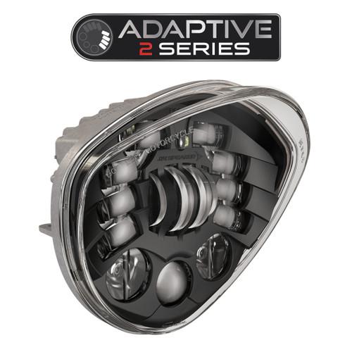 JW Speaker Victory Motorcycle LED Headlight 8695 Adaptive 2 Black