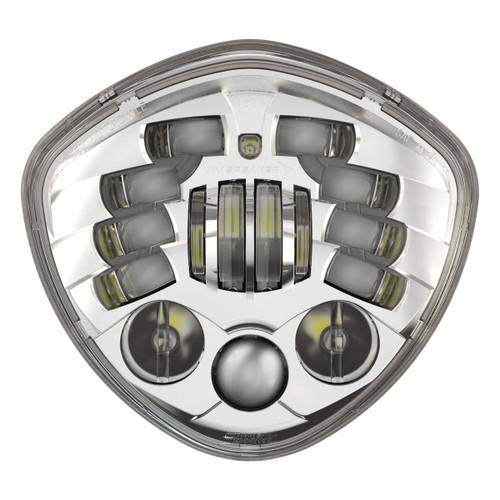 JW Speaker Victory Motorcycle LED Headlight 8695 Adaptive 2 Chrome