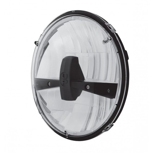 "United Pacific 31289 7"" Round Black LED Reflector Headlight"