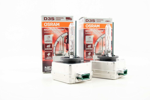 D3S Osram Xenarc Night Breaker Laser Bulbs