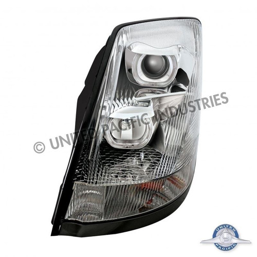 United Pacific 31263 Chrome Volvo VN / VNL 2004+ Projection Headlight - Driver Side