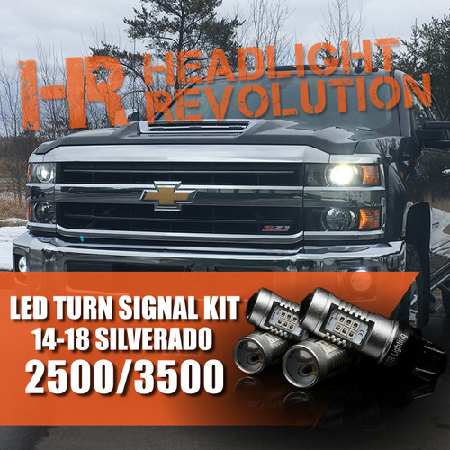 2014-2018 Chevy Silverado 2500 3500 LED Front Turn Signal Kit
