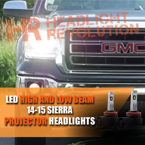 14-15 GMC Sierra LED Headlight upgrade