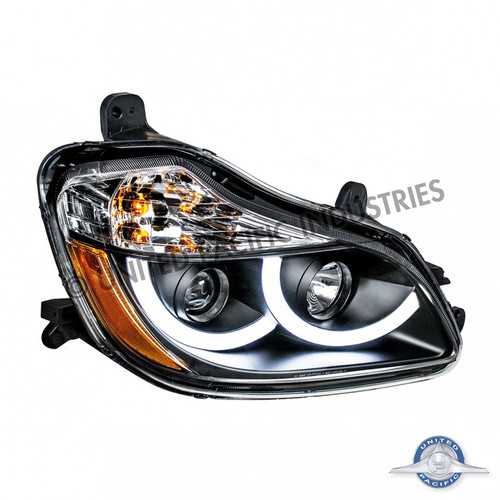 United Pacific 31457 Black Projection Headlight with LED Position Light for 2013+ Kenworth T680 - Passenger