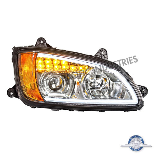 Chrome Projection Headlight with LED Turn Signal & LED Position Light