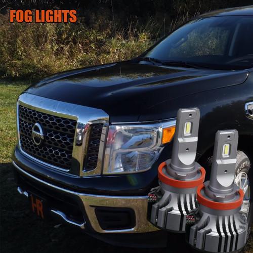 2016 - 2018 Nissan Titan Fog Light LED Bulb Upgrade Kit - V.4