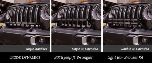 Diode Dynamics 2018 2019 Jeep Jl Wrangler Bumper Led Dual Light Bar Kit