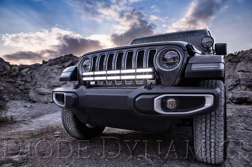 Diode Dynamics 2018-2019 Jeep JL Wrangler Bumper LED Dual Light Bar Kit