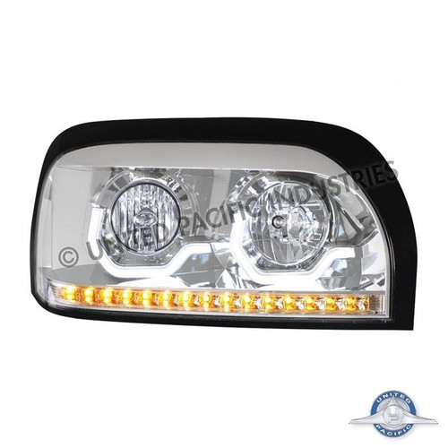 United Pacific 31204 Chrome Freightliner Century Projection Headlight - Passenger Side