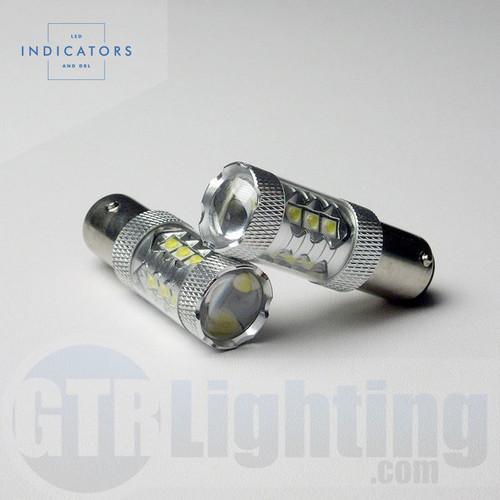 "GTR Lighting 16-LED High Power CREE (""80W"") 1156 LED Bulbs"