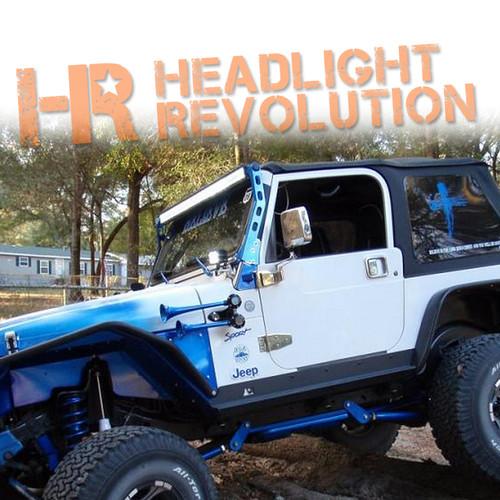 N-FAB 97-06 Jeep Wrangler TJ / JK Windshield Mounted Light Bar Brackets