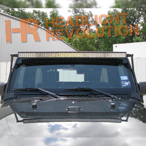 N-FAB 07-17 Jeep Wrangler JK Windshield Mounted Light Bar Brackets