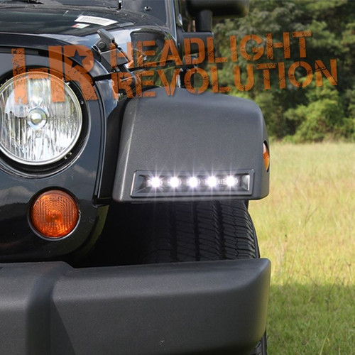 Rostra 2007-2016 Jeep Wrangler LED Daytime Running Light System