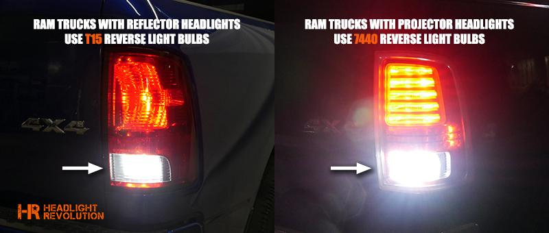RAM reverse light bulb styles