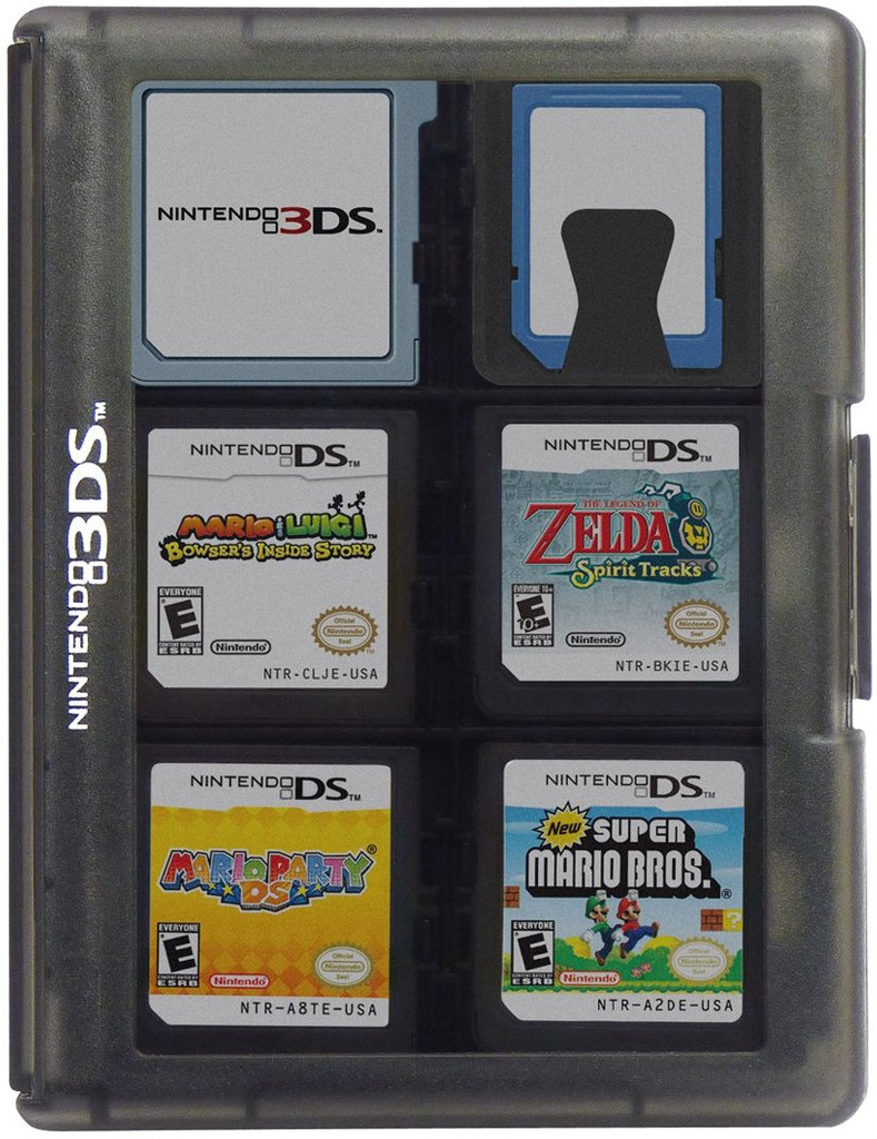 3ds Game Card Case 24 Black Hori Usa