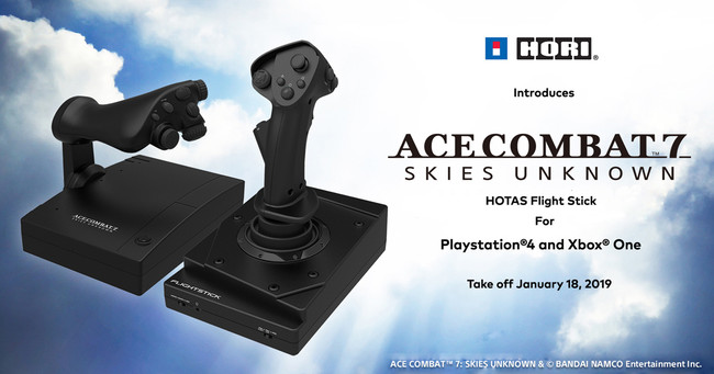 HORI Announces ACE COMBAT 7 HOTAS Flight Stick for PlayStation®4 and Xbox One