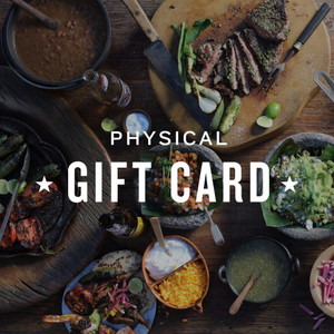 Goode Co's Physical Restaurant Gift Card, available for the Holidays.