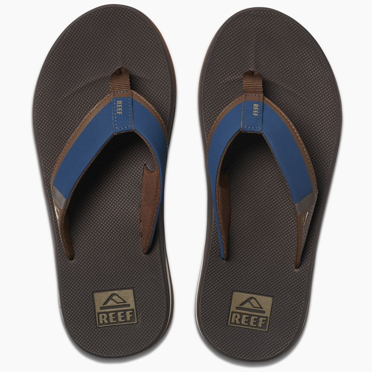 3dc9bbdb3c5da Reef Mens Sandals With Bottle Opener ~ Fanning Low navy/brown ...