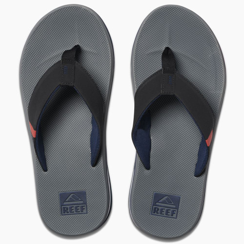 Reef Mens Sandals With Bottle Opener ~ Fanning Low grey/black/red