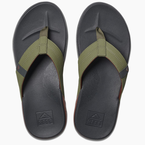 Reef Mens Sandals ~ Cushion Bounce Phantom olive/red