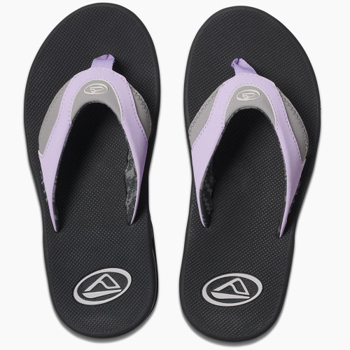 Reef Womens Sandals With Bottle Opener ~ Fanning grey/purple