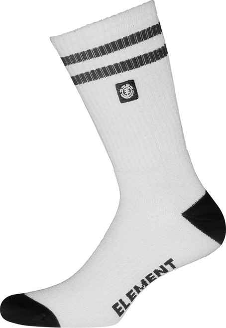 Element Athletic Socks ~ Clearsight white