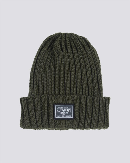 Element Knitted Cuff Beanie ~ Counter olive