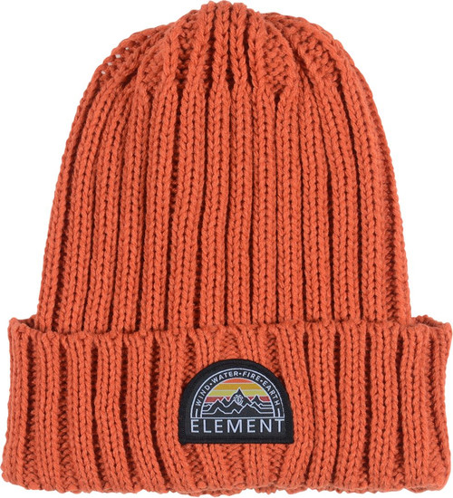 Element Knitted Cuff Beanie ~ Counter ochre