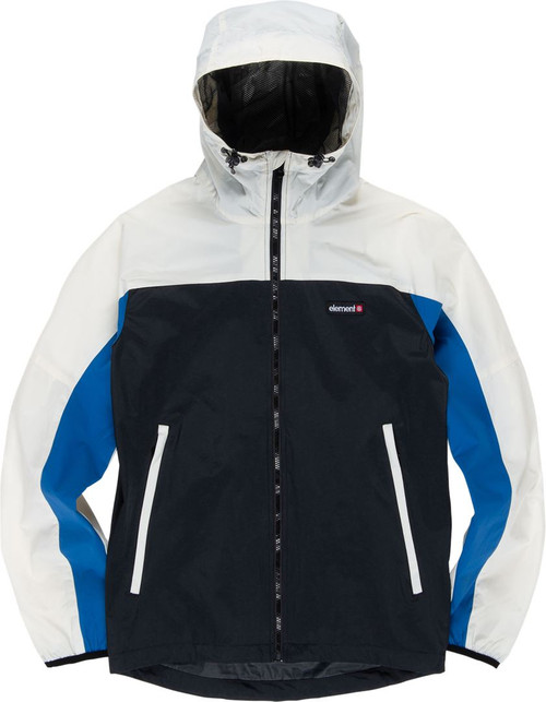Element Men's Lightweight Hooded Jacket ~ Primo Storm Front off white