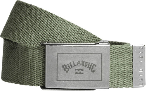 Billabong Woven Cotton Web Belt With Bottle Opener ~ Sergeant military 2