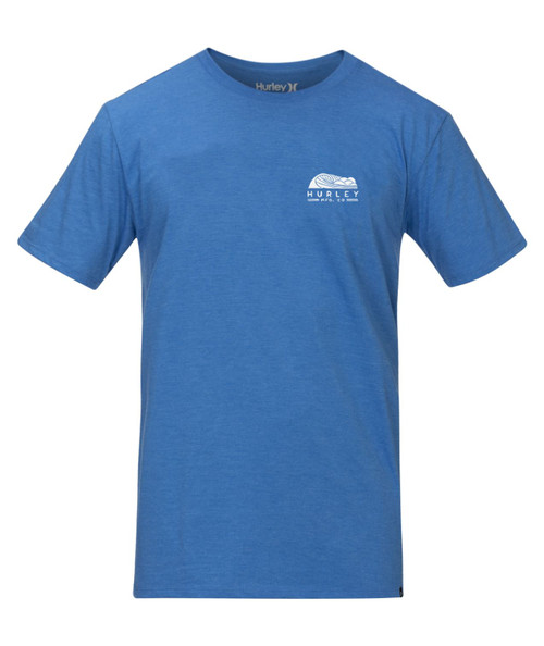 Hurley Men's Heather T-Shirt ~ Siro Daybreak blue heather