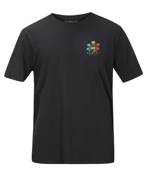 Hurley Men's T-Shirt ~ BNZ Get Shacked black