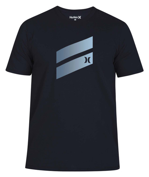 Hurley Men's T-Shirt ~ Icon Slash Gradient navy2