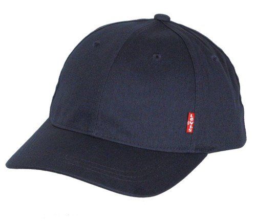 Levi's Classic Twill Curve Cap ~ Red Tab navy