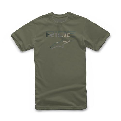 Alpinestars Men's T-Shirt ~ Ride 2.0 military