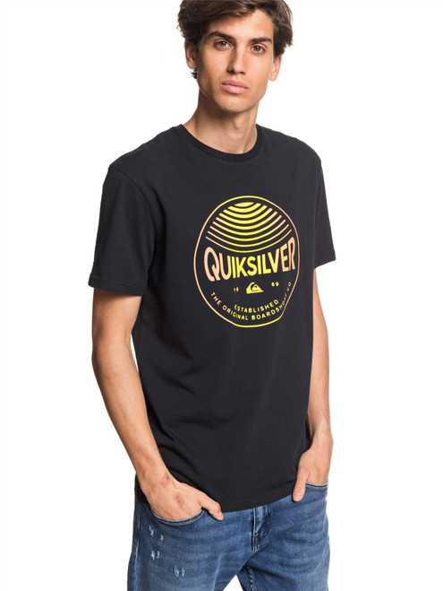 Quiksilver Men's T-Shirt ~ Clours In Stereo black