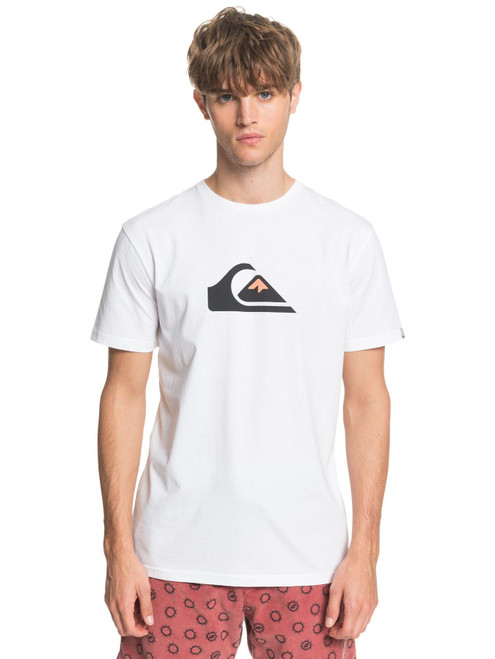 Quiksilver Men's T-Shirt ~ Comp Logo white