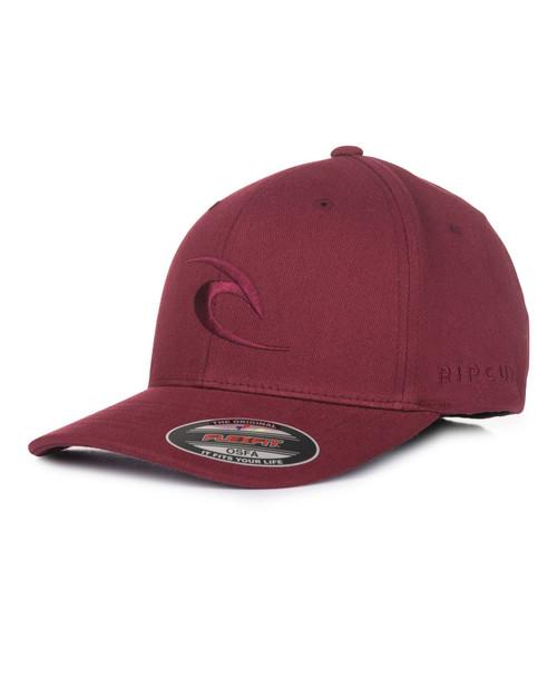 Rip Curl Men's Flexfit Cap ~ Tepan Curve Peak marron