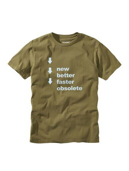 howies Men's Organic Cotton T-Shirt ~ Obsolete