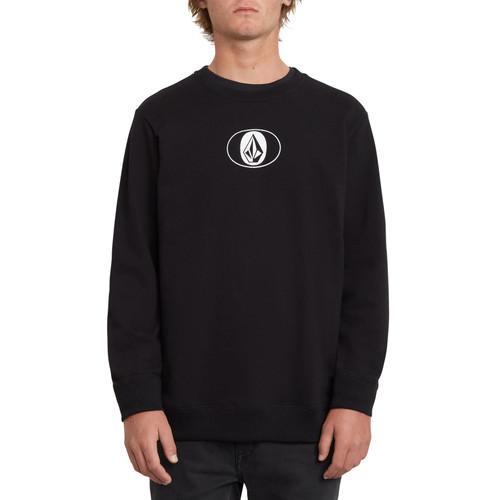 Volcom Men's Crew Neck Sweater ~ Ovalstone black