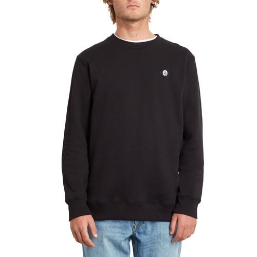 Volcom Men's Crew Neck Sweater ~ Single Stone black