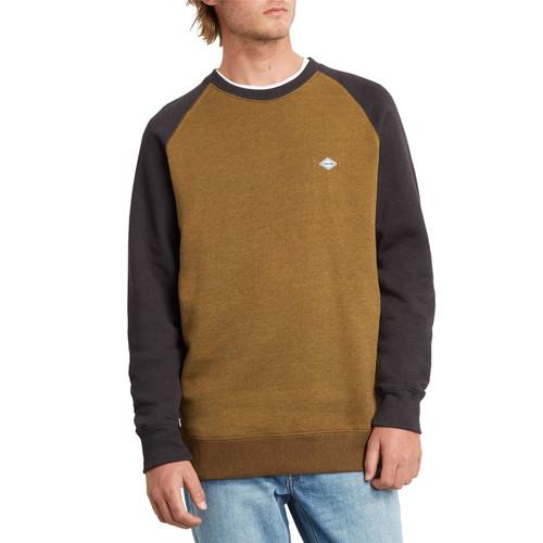 Volcom Men's Crew Neck Sweater ~ Homak brown