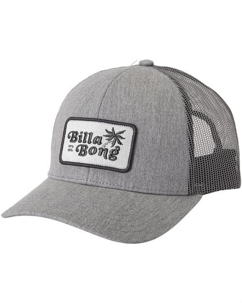 Billabong Men's Snapback Trucker Cap ~ Walled heather grey