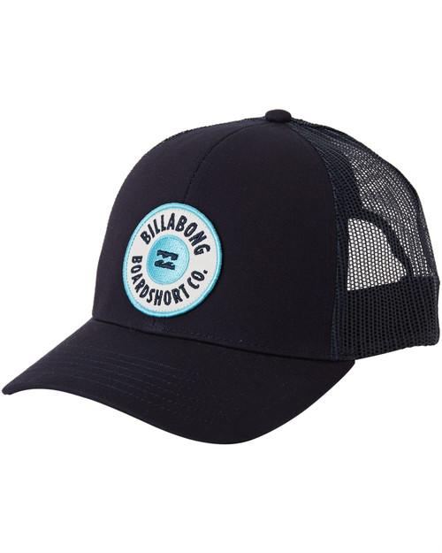 Billabong Men's Snapback Trucker Cap ~ Walled navy