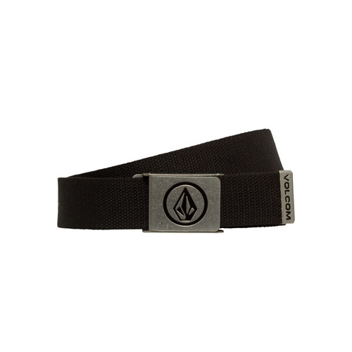 Volcom Woven  Web Belt With Bottle Opener ~ Circle black