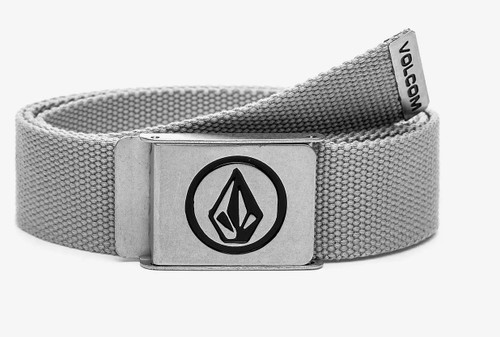 Volcom Woven  Web Belt With Bottle Opener ~ Circle heather grey