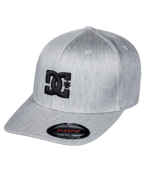 DC Shoes Men's Flexfit Cap ~ Capstar lt grey